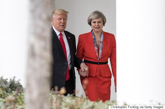 theresa may donald trump
