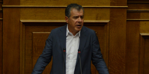 Stavros Theodorakis, To Potami during parliamentary dispute at level of Party leaders on the topic of corruption in Athens on October 10, 2016. (Photo by Wassilios Aswestopoulos/NurPhoto via Getty Images)