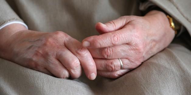 Visitation monastery. Catholic nun's hands. (Photo by: Godong/UIG via Getty Images)
