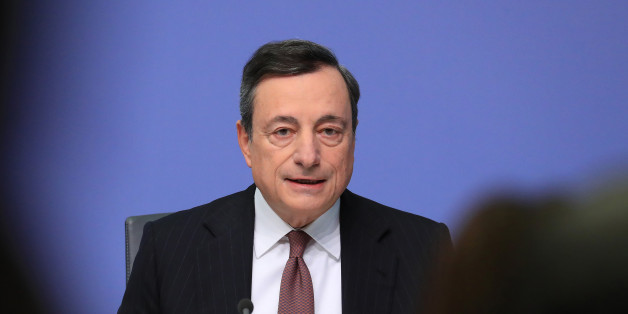 Mario Draghi, president of the European Central Bank (ECB), speaks during a news conference to announce the bank's interest rate decision at the ECB headquarters in Frankfurt, Germany, on Thursday, Jan. 19, 2017. The ECB left its quantitative-easing program unchanged as policy makers wait to see if a pickup in inflation will be sustained. Photographer: Krisztian Bocsi/Bloomberg via Getty Images