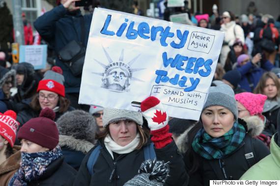 muslim ban protest toronto