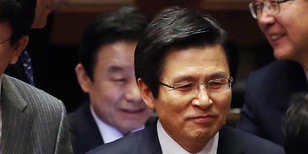 황교안 대통령 권한대행이 2일 오전 서울 여의도 국회 본회의장에서 열린 제349회국회(임시회) 제2차 본회의에 참석하고 있다.