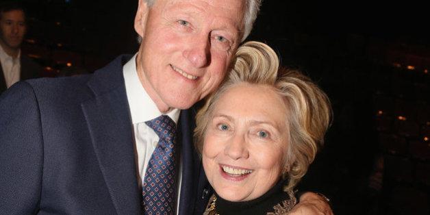 Hillary und Bill Clinton schauten sich am Mittwochabend überraschend ein Musical in new York an