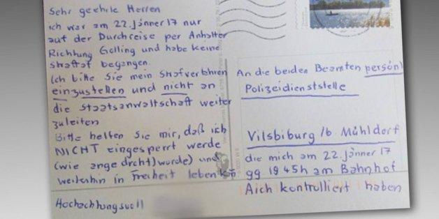 """""""Bitte sperren Sie mich nicht ein"""" - Unbekannter schreibt Postkarte an die Polizei"""