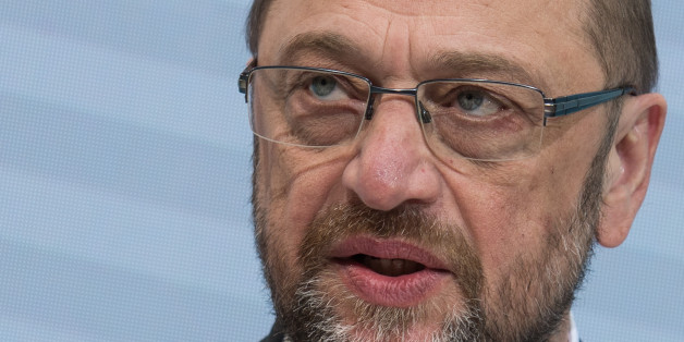 Candidate of the German Social Democrats, SPD, for the upcoming elections and former President of the European Parliament Martin Schulz speaks during a news conference at the party's headquarters in Berlin, Germany, Monday, Jan. 30, 2017. SPD is backing Schulz to lead their campaign to unseat Chancellor Angela Merkel in the elections.  (Photo/Zacharie Scheurer) (Photo by Zacharie Scheurer/NurPhoto via Getty Images)