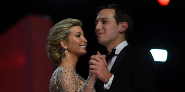 Ivanka Trump and her husband Jared Kushner dance at the Liberty Ball at the Washington DC Convention Center following Donald Trump's inauguration as the 45th President of the United States, in Washington, DC, on January 20, 2017.  / AFP / JIM WATSON        (Photo credit should read JIM WATSON/AFP/Getty Images)