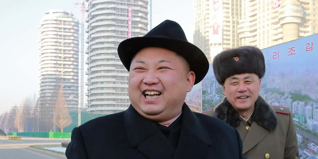 This undated picture released from North Korea's official Korean Central News Agency (KCNA) on January 26, 2017 shows North Korean leader Kim Jong-Un (L) inspecting housing blocks at a construction site at Ryomyong Street in Pyongyang. / AFP / KCNA VIA KNS / STR / South Korea OUT / REPUBLIC OF KOREA OUT   ---EDITORS NOTE--- RESTRICTED TO EDITORIAL USE - MANDATORY CREDIT 'AFP PHOTO/KCNA VIA KNS' - NO MARKETING NO ADVERTISING CAMPAIGNS - DISTRIBUTED AS A SERVICE TO CLIENTSTHIS PICTURE WAS MADE AVA