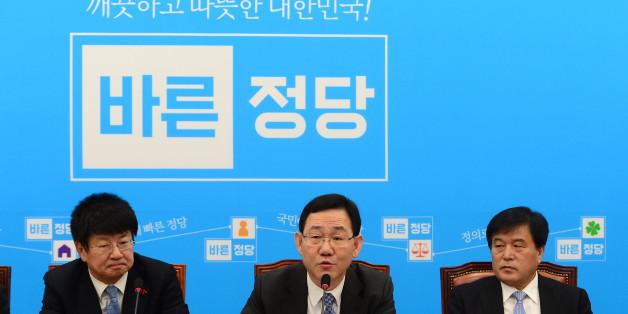 주호영 바른정당 원내대표가 3일 오전 서울 여의도 국회에서 열린 원내대책회의에서 모두발언을 하고 있다.