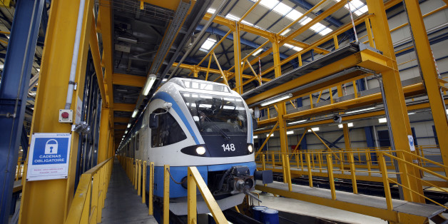 Maintenance room of train Hussein Dey by RATP Dev. in Algiers, Algiersia, on 21 April 2016.