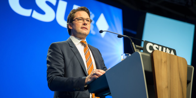 MUNICH, GERMANY - NOVEMBER 04: Andreas Scheuer, Secretary General of the CSU  speak during at the annual CSU party congress on November 04, 2016 in Munich, Germany.  (Photo by TF-Images/Getty Images)