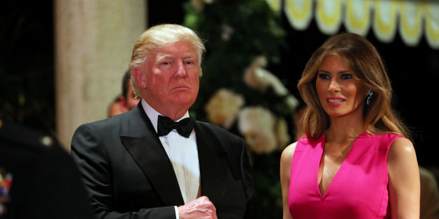 U.S. President Donald Trump and First Lady Melania Trump attend the 60th Annual Red Cross Gala at Mar-a-Lago club in Palm Beach, Florida, U.S., February 4, 2017. REUTERS/Carlos Barria
