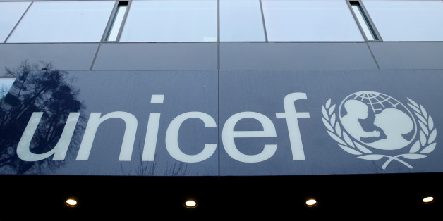 A UNICEF logo is pictured outside their offices in Geneva, Switzerland, January 30, 2017. Picture taken January 30, 2017.  REUTERS/Denis Balibouse
