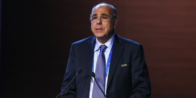 SAO PAULO, BRAZIL - JUNE 11:  Mohamed Raouraoua, FIFA Executive Committee member and former Chairman of the Media Committee speaks during the 64th FIFA Congress at TEC on June 11, 2014 in Sao Paulo, Brazil.  (Photo by Alexander Hassenstein - FIFA/FIFA via Getty Images)