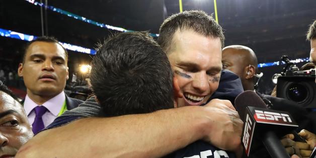 Grenzenlose Freude der New England Patriots nach dem Sieg des Super Bowl