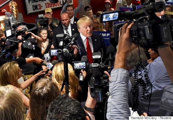 donald trump media cameras