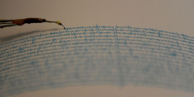 View of a seismograph at the National Seismological Service in the campus of the National Autonomous University of Mexico, in Mexico City on September 14, 2016. / AFP / PEDRO PARDO        (Photo credit should read PEDRO PARDO/AFP/Getty Images)