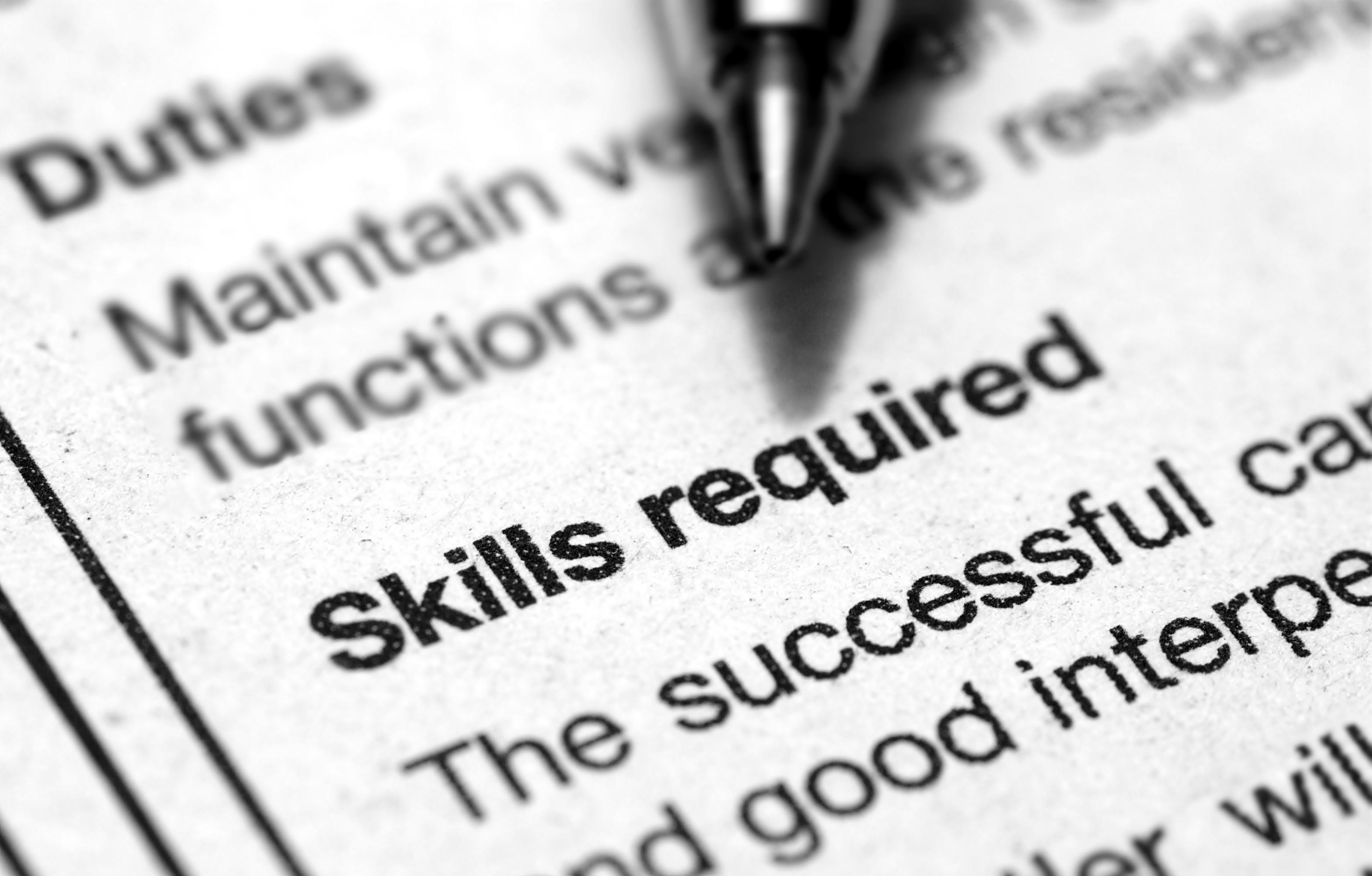 Job Resume  Skills For Job Resume