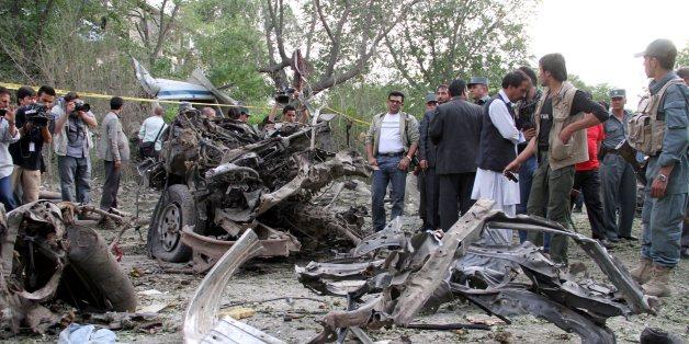 아프간 카불 대법원 앞 테러 현장