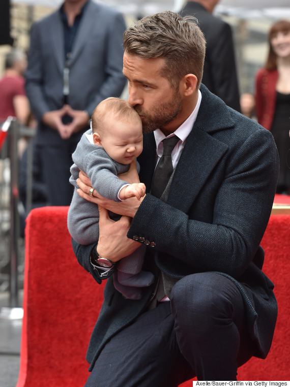ryan reynolds shares proud dad moment and of course it 39 s cute huffpost canada. Black Bedroom Furniture Sets. Home Design Ideas