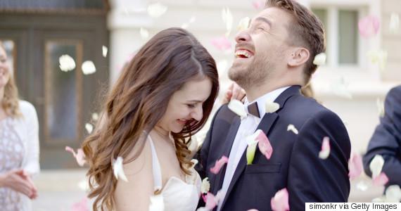 couple wedding day