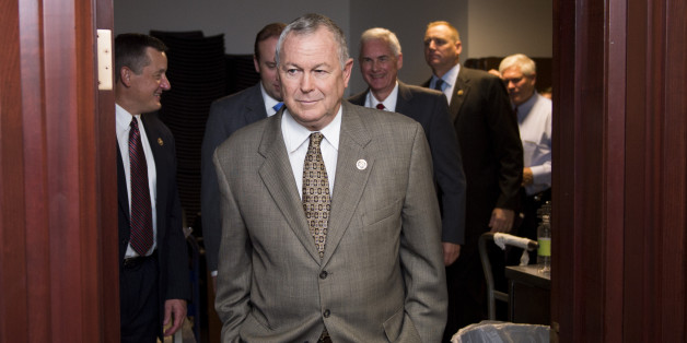 UNITED STATES - OCTOBER 7: Rep. Dana Rohrabacher, leaves the House Republican Conference meeting in the Capitol on Wednesday, Oct. 7, 2015. (Photo By Bill Clark/CQ Roll Call)