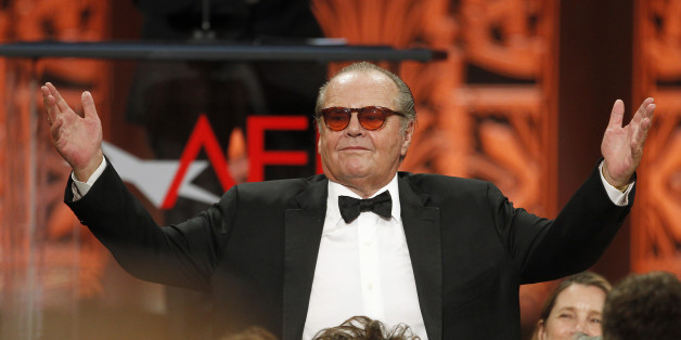 Actor Jack Nicholson stands as he is introduced at the TV Land cable channel taping of the AFI Life Achievement Award, honoring actress Shirley MacLaine, in Los Angeles June 7, 2012. The show will be telecast June 24.    REUTERS/Fred Prouser  (UNITED STATES - Tags: ENTERTAINMENT)