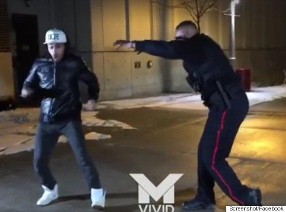 oshawa dancing cop