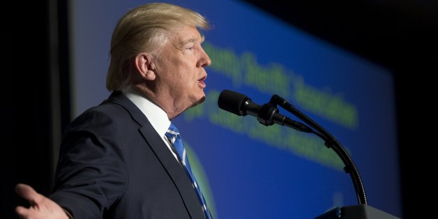 US President Donald Trump speaks at the Major Cities Chiefs Association and Major County Sheriff's Association Winter Meeting in Washington, DC, February 8, 2017.US President Donald Trump on Wednesday lashed out at federal judges, calling them 'so political' as an appeals court mulls whether to reinstate his controversial travel ban on refugees and nationals from seven mainly Muslim nations.'I think our security is at risk today,' Trump told a meeting of sheriffs from around the nation, as he de