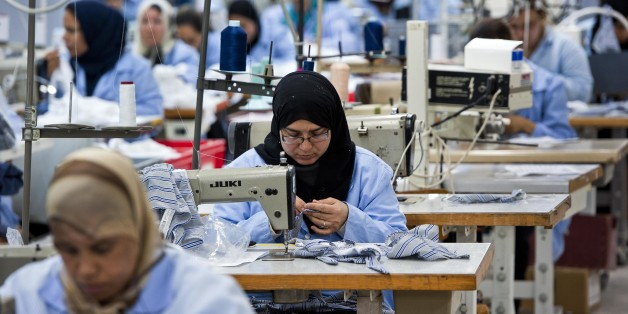 The textile factory Isalys in Sfax produces lingerie pieces for the French brand Lejaby as well as subcontracting for other brands as Barbara, Dawn serenade, Etam, Rassurel, Lacoste, Decathlon, Go Sport (Photo by Nicolas Fauqu��/Corbis via Getty Images)