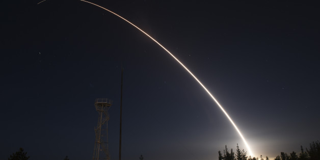 An unarmed Minuteman III intercontinental ballistic missile launches during an operational test from Vandenberg Air Force Base, California at 11:01 p.m. On February 25, 2016. The unarmed Minuteman III missile blasted off from a silo at Vandenberg Air Force Base in California late on Thursday, headed toward a target area near Kwajalein Atoll in the Marshall Islands of the South Pacific.   REUTERS/Ian Dudley/U.S. Air Force photo/Handout via Reuters  FOR EDITORIAL USE ONLY. NOT FOR SALE FOR MARKETI