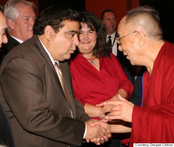 deepak obhrai dalai lama