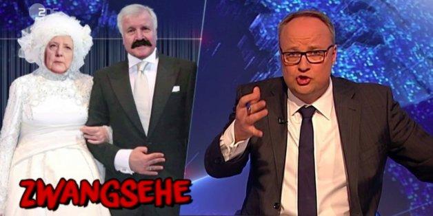 """""""Heute Show"""" therapiert die kaputte Ehe von Merkel und Seehofer"""