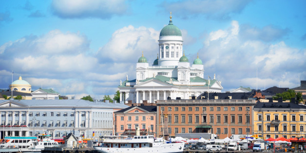 Historical Helsinki view on summers day.