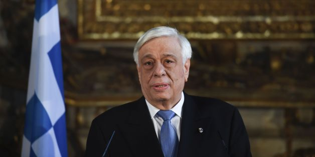 Greek President Prokopios Pavlopoulos stands during a press conference at the University of Coimbra in Coimbra on January 30, 2017. / AFP / PATRICIA DE MELO MOREIRA        (Photo credit should read PATRICIA DE MELO MOREIRA/AFP/Getty Images)