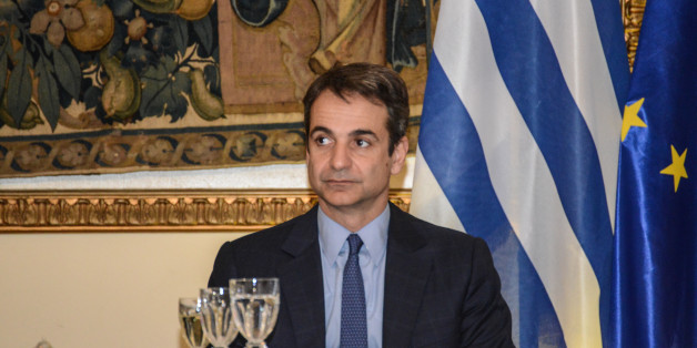 Leader of Opposition and Nea Dimokratia Kyriakos Mitsotakis during  official dinner with the president of the Republic of Italy, Sergio Mattarella in Athens, on January 17 2017. (Photo by Wassilios Aswestopoulos/NurPhoto via Getty Images)
