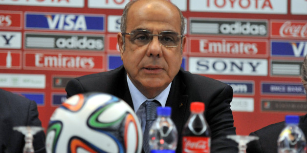 MARRAKECH, MOROCCO - DECEMBER 19:   Mohamed Raouraoua Chairman of Organising Committee for the FIFA Club World Cup hold a press conference prior to the final match to be played on 21 December under FIFA Club World Cup on December 19,2013.(Photo by Jalal Morchidi/Anadolu Agency/Getty Images)
