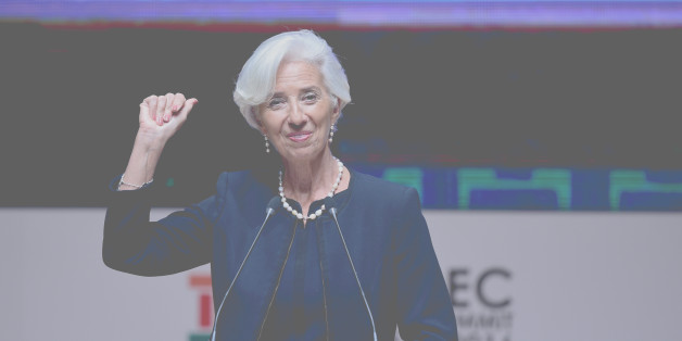 IMF Managing Director Christine Lagarde gestures as she speaks during a session of the APEC CEO Summit, part of the broader Asia-Pacific Economic Cooperation (APEC) Summit in Lima on November 18, 2016.