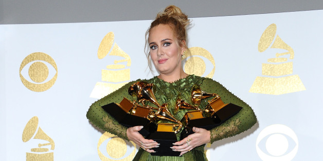 LOS ANGELES, CA - FEBRUARY 12:  Singer Adele poses in the press room at the 59th GRAMMY Awards at Staples Center on February 12, 2017 in Los Angeles, California.  (Photo by Jason LaVeris/FilmMagic)