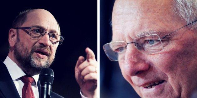 Kampf um Athen: In der Griechenlandkrise kommt es zum Showdown zwischen Schäuble und Schulz