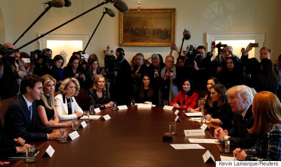 trudeau trump women