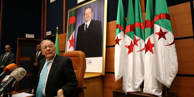 Djamel Ould Abbes, the Secretary General of the National Liberation Front FLN during a press conference in Algiers on 26 January 2017 about FLN installation of the commission of preparation of the legislative elections of the wilaya of Algiers. (Photo by Billal Bensalem/NurPhoto via Getty Images)