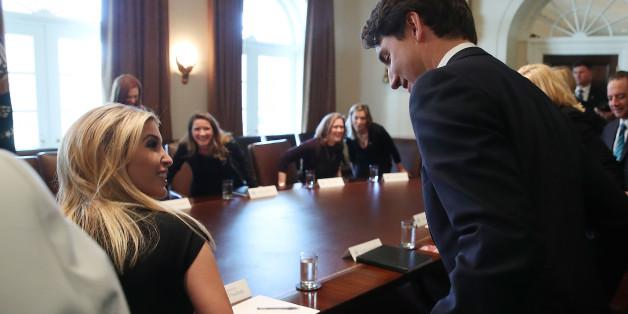 Der kanadische Premier Justin Trudeau traf zum ersten Mal auf Ivanka Trump.