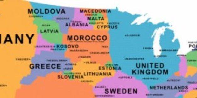 Quand un journal britannique place le Maroc...en Europe