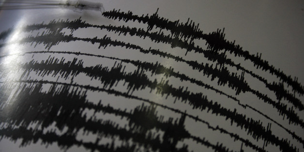 An image stored on March 7, 2015 shows a seismograph record of volcanic activity of Mount Sinabung in the observation center in Karo, Sumatra, Indonesia. Mount Sinabung, which began erupting in September 2013 when it start lettuce again on two days ago by the ash cloud reached about 4,700 meters to the south, with the earthquake avalanches sixteen times, fifteen times the low-frequency earthquakes, seven hybrid earthquakes that threaten the village . Head of the team of Volcanology and Geological Hazard Mitigation (PVMBG) said local (Photo by Ivan Damanik/NurPhoto) (Photo by NurPhoto/NurPhoto via Getty Images)