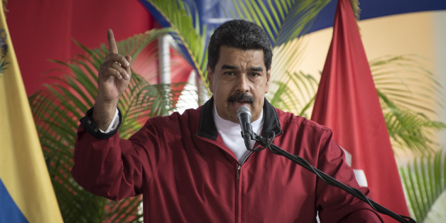 Nicolas Maduro, president of Venezuela, speaks during a swearing in ceremony for the new board of directors of Petroleos de Venezuela SA (PDVSA), Venezuela's state oil company, in Caracas, Venezuela, on Tuesday, Jan. 31, 2017. Maduro has given his vice president wide-reaching decree powers, including the ability to determine ministries' spending plans and expropriate private businesses, in a move that has fueled speculation over possible succession plans. Photographer: Carlos Becerra/Bloomberg via Getty Images
