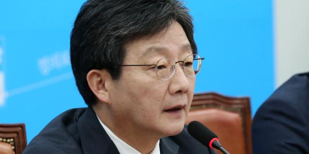 바른정당 대선주자인 유승민 의원이 16일 오전 서울 여의도 국회에서 열린 최고위원회 회의에서 발언하고 있다.