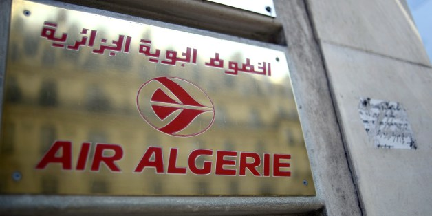 A photo taken on July 24, 2014 shows a plaque of an Air Algerie airlines office in Paris. Many French nationals are thought to be on board an Air Algerie jet that went missing after taking off from Burkina Faso for Algiers, French Transport Minister Frederic Cuvillier said on July 24. A source in Mali said that contact with the McDonnell Douglas MD-83 was lost over Gao in north Mali, a region that was seized by jihadists groups for several months in 2012 and that remains very unstable despite the Islamists being driven out in a French-led offensive. AFP PHOTO / STEPHANE DE SAKUTIN        (Photo credit should read STEPHANE DE SAKUTIN/AFP/Getty Images)