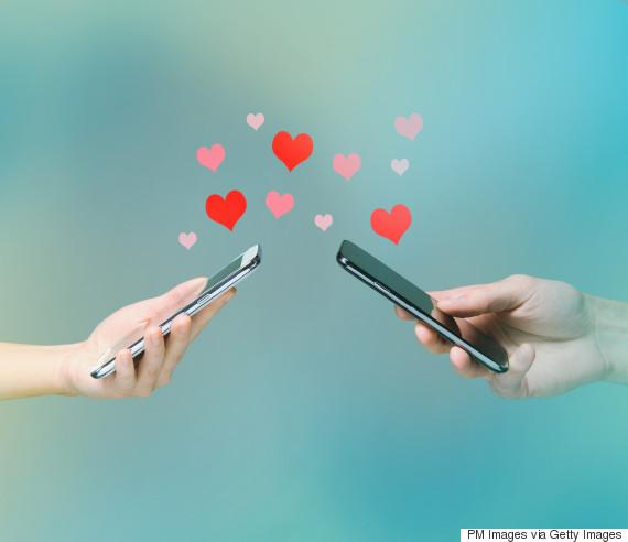 man woman texting