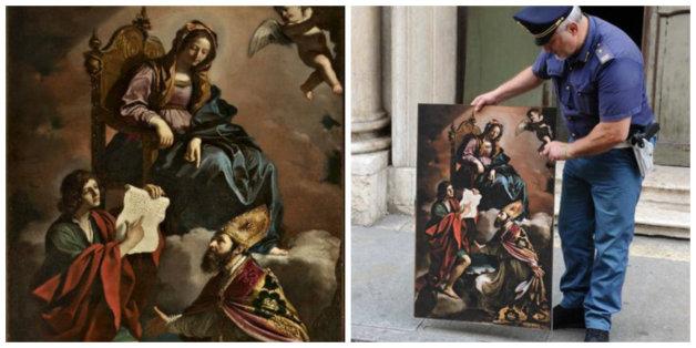 Un tableau du Guercino datant du XVIIe siècle et volé en Italie retrouvé à Casablanca