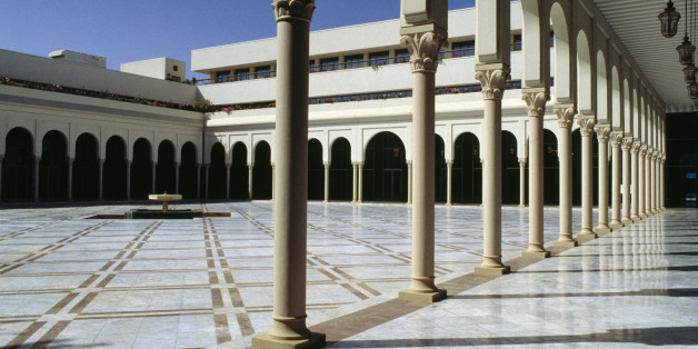 ALGERIA - MAY 05: Patio of the Palace of Culture Moufdi Zakaria, 1984, Algiers. Algeria, 20th century. (Photo by DeAgostini/Getty Images)